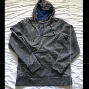Under Armour  hoodie blue and gray men's coldgear